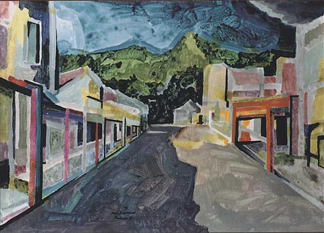 Taihape (1991) by Douglas MacDiarmid.(Private collection, New Zealand). www.douglasmacdiarmid.com