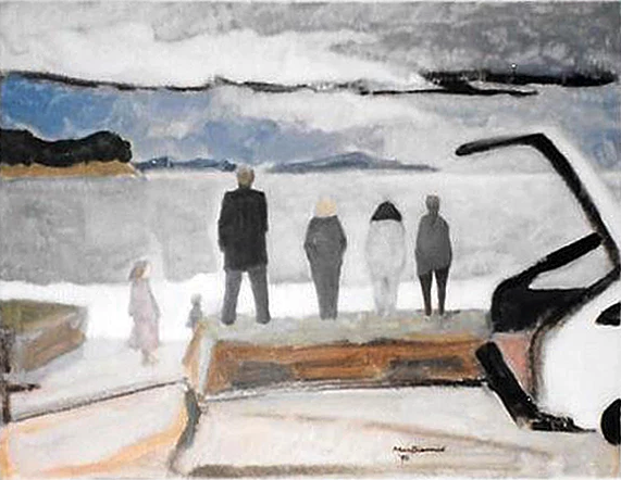 Wet Sunday New Zealand (1996) by Douglas MacDiarmid. Private collection, NZ