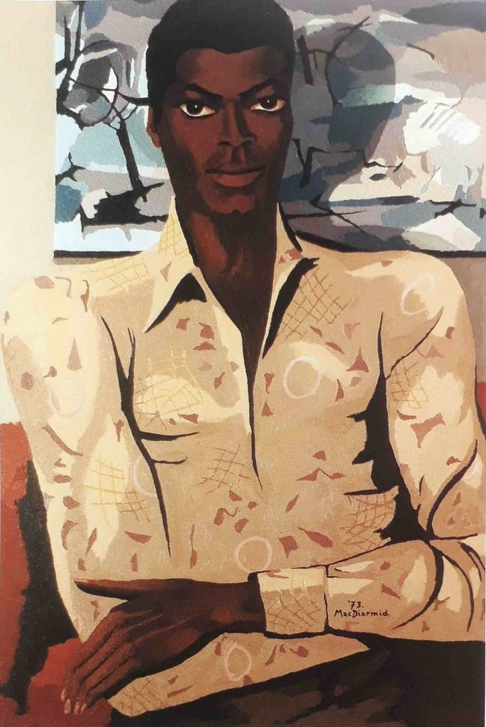 Portrait of Patrick (1973) by Douglas MacDiarmid, oil on canvas 92 x 60cm. From the artist's personal collection.
