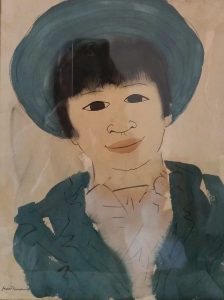 Chinese Girl 1949 Wellington by Douglas MacDiarmid, watercolour 23x30cm. Private collection, Auckland